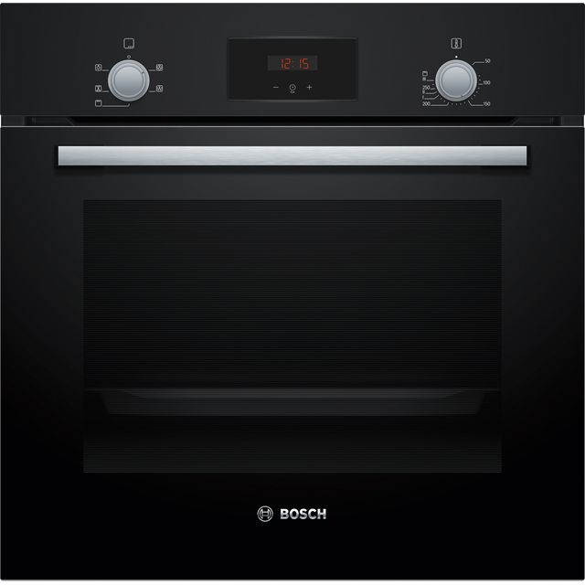 Bosch Serie 2 HHF113BA0B Built In Electric Single Oven - Black - HHF113BA0B_BK - 1