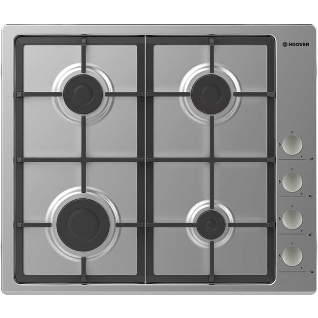 Hoover H-HOB 300 GAS HHG6LSX Built In Gas Hob - Stainless Steel - HHG6LSX_SS - 1