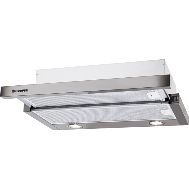 Hoover HHT6300/1X 60 cm Integrated Cooker Hood - Stainless Steel - HHT6300/1X_SS - 1