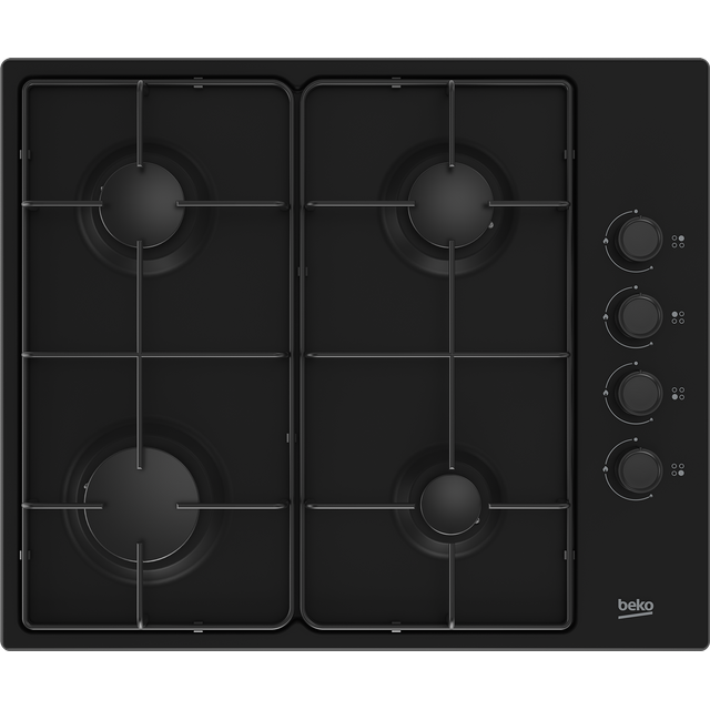 Beko HIBG64120SB Built In Gas Hob - Black - HIBG64120SB_BK - 1