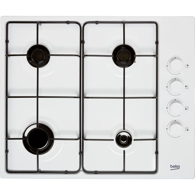 Beko HIBG64120SW Built In Gas Hob - White - HIBG64120SW_WH - 1