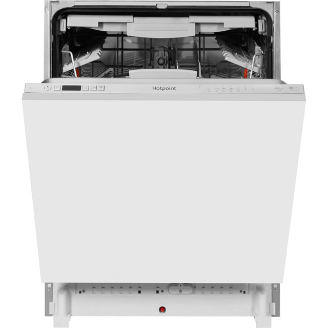 Hotpoint Ultima Fully Integrated Standard Dishwasher - Silver with Fixed Door Fixing Kit - A++ Rated