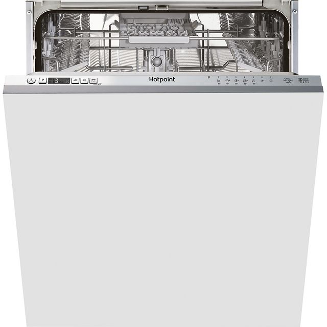 Hotpoint HIC3C33CWEUK Fully Integrated Standard Dishwasher - Silver Control Panel with Fixed Door Fixing Kit - A+++ Rated