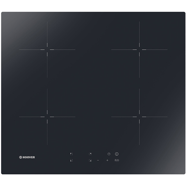 Hoover HIC642 Integrated Electric Hob in Black Glass