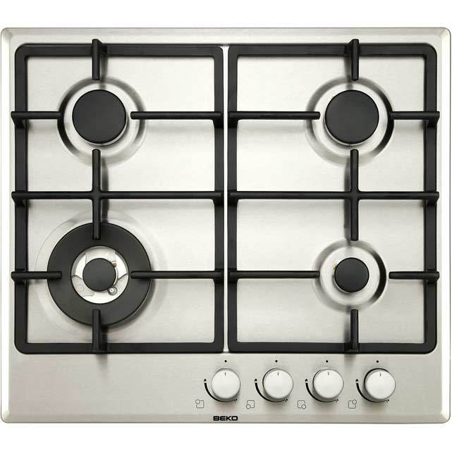 Beko HIMW64225SX 58cm Gas Hob - Stainless Steel