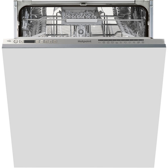 Hotpoint Ultima HIO3C22WSCUK Fully Integrated Standard Dishwasher - Silver Control Panel with Fixed Door Fixing Kit - A++ Rated - HIO3C22WSCUK_SI - 1