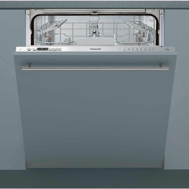 Hotpoint HIO3C26W Fully Integrated Standard Dishwasher - Silver Control Panel - A++ Rated