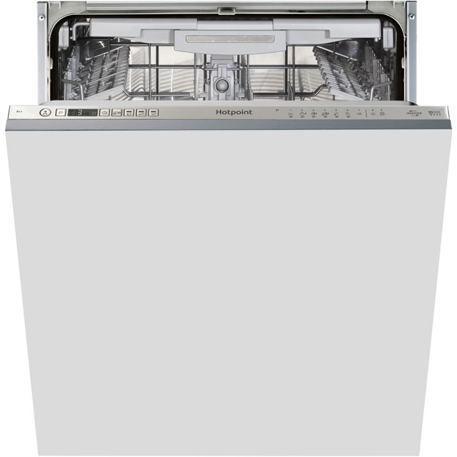 Hotpoint Ultima HIO3P23WLEUK Fully Integrated Standard Dishwasher - Stainless Steel Control Panel with Fixed Door Fixing Kit - A++ Rated - HIO3P23WLEUK_SS - 1