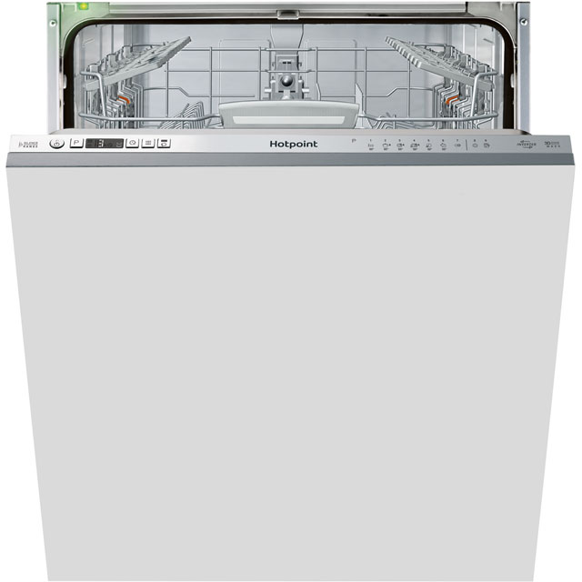 Hotpoint Ultima HIO3T1239EUK Fully Integrated Standard Dishwasher - Stainless Steel Control Panel - A++ Rated