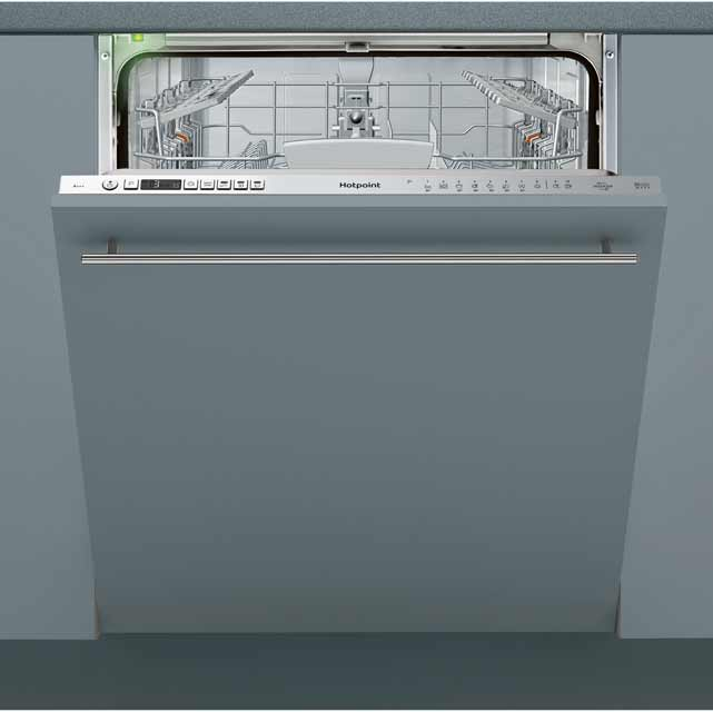 Hotpoint HIO3T232WGE Fully Integrated Standard Dishwasher - Stainless Steel Control Panel - A+++ Rated