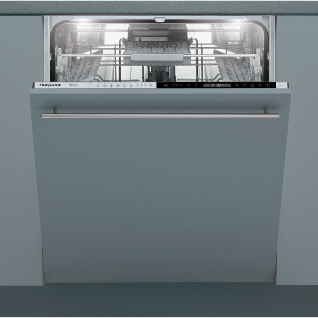 Hotpoint Ultima HIP4O22WGTCEUK Fully Integrated Standard Dishwasher - Stainless Steel Control Panel with Fixed Door Fixing Kit - A++ Rated - HIP4O22WGTCEUK_SS - 1