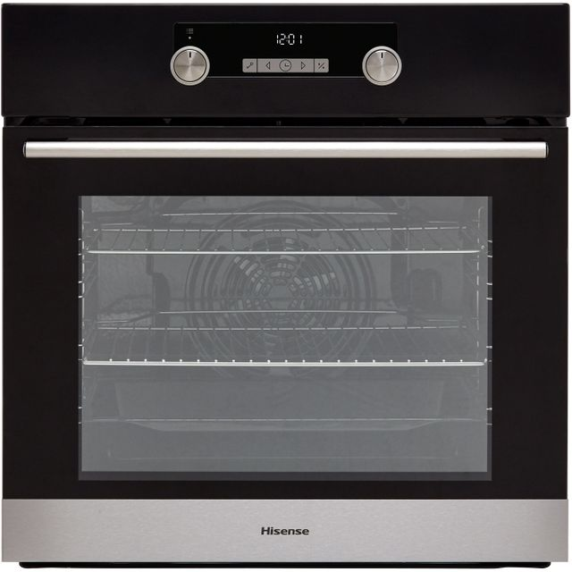 Hisense BI3221ABUK Built In Electric Single Oven - Black - BI3221ABUK_BK - 1