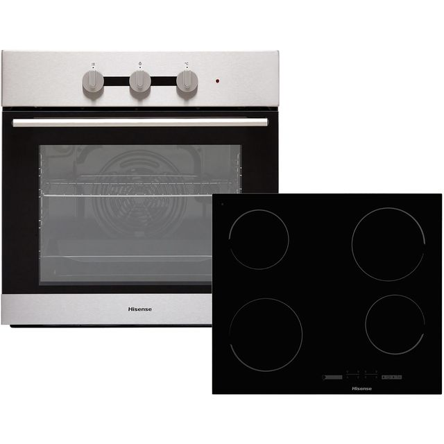 Hisense BI6031CXUK Integrated Oven & Hob Pack in Stainless Steel / Black