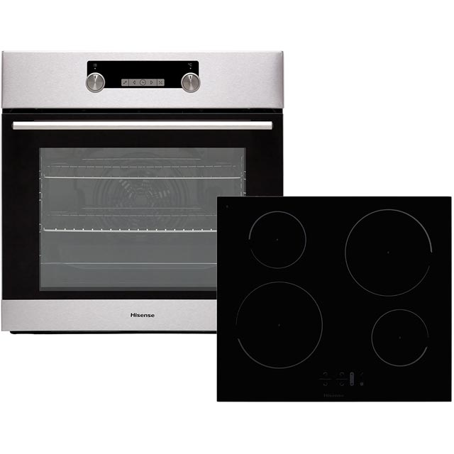 Hisense BI6032IXUK Built In Electric Single Oven and Induction Hob Pack - Stainless Steel / Black - A Rated