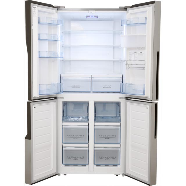 Hisense Fmn431w20c American Fridge Freezer Stainless