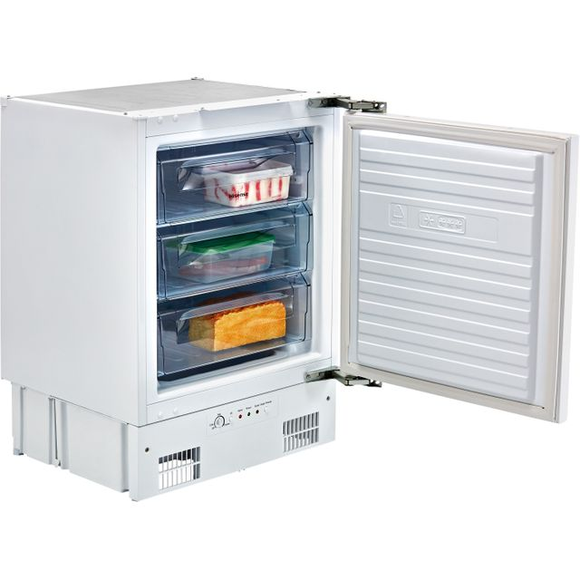 Hisense FUV126D4AW11 Integrated Under Counter Freezer with Fixed Door Fixing Kit - A+ Rated - FUV126D4AW11_WH - 1