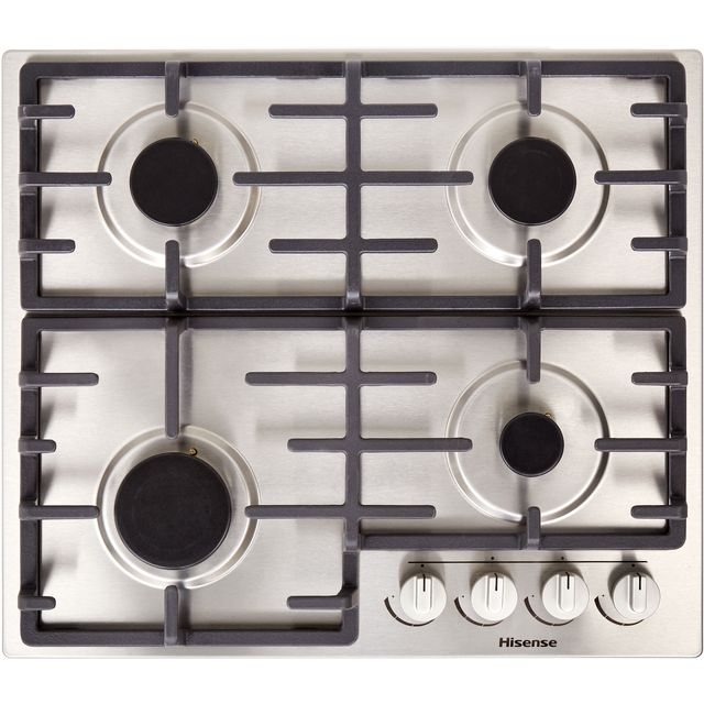 Hisense GM643XUK 60cm Gas Hob - Stainless Steel