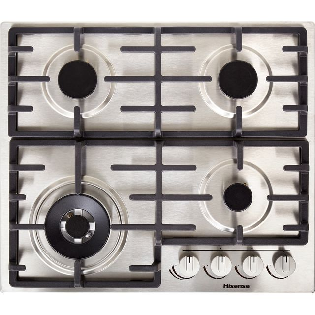 Hisense GM663XUK Built In Gas Hob - Stainless Steel - GM663XUK_SS - 1