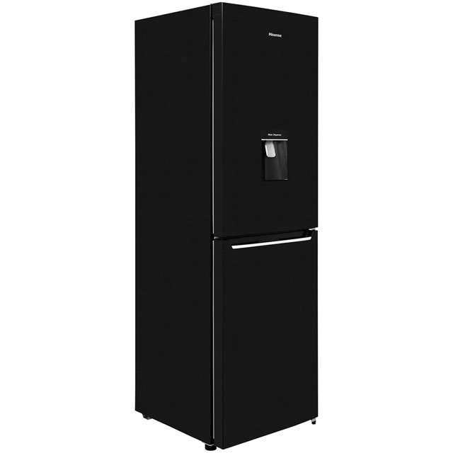 Hisense RB381N4WB1 50/50 Frost Free Fridge Freezer - Black - RB381N4WB1_BK - 1