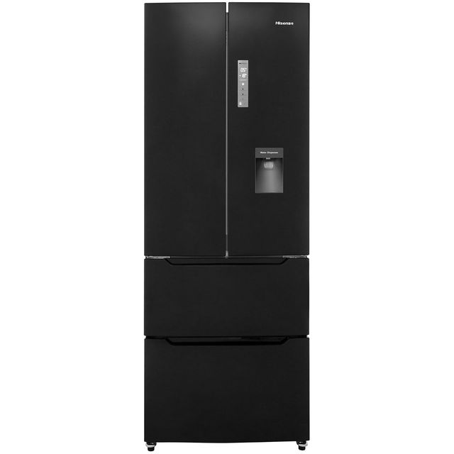 Hisense RF528N4WB1 American Fridge Freezer - Black - A+ Rated