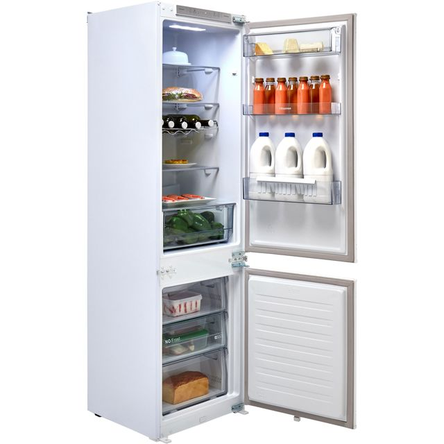 Hisense RIB312F4AW1 Integrated 70/30 Frost Free Fridge Freezer with Sliding Door Fixing Kit - White - A+ Rated Best Price, Cheapest Prices