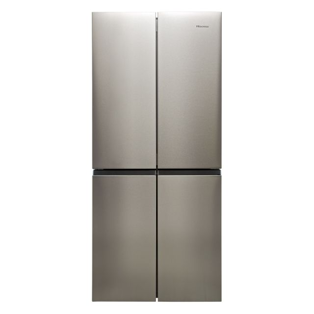 Hisense RQ563N4AI1 American Fridge Freezer - Stainless Steel - F Rated
