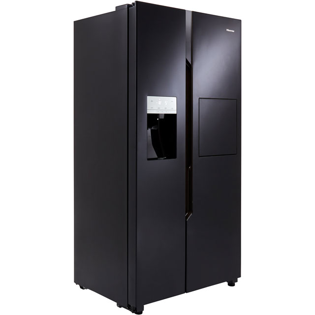 Hisense RS694N4BB1 American Fridge Freezer - Black - A+ Rated