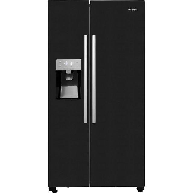 Hisense RS696N4IB1 Free Standing American Fridge Freezer in Black
