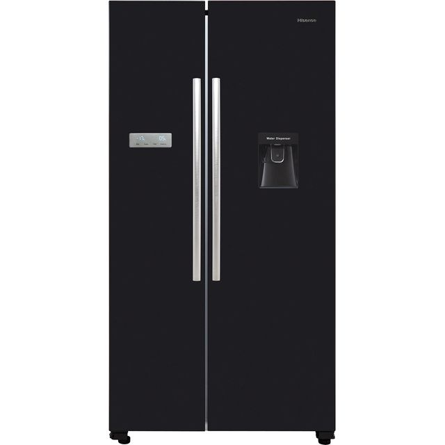 Hisense RS741N4WB11 American Fridge Freezer - Black - A+ Rated