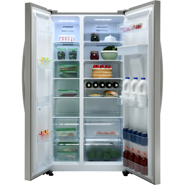 Hisense RS741N4WC11 American Fridge Freezer - Stainless Steel Effect - RS741N4WC11_SS - 3