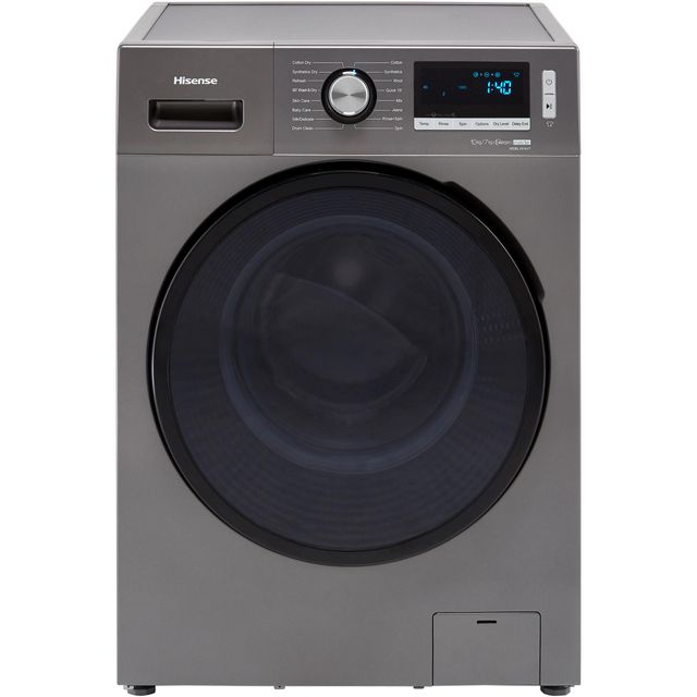 Hisense WDBL1014VT 10Kg / 7Kg Washer Dryer with 1400 rpm - Titanium - A Rated - WDBL1014VT_SI - 1