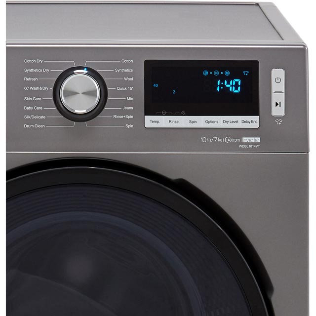 Hisense WDBL1014V 10Kg / 7Kg Washer Dryer - White - WDBL1014V_WH - 3