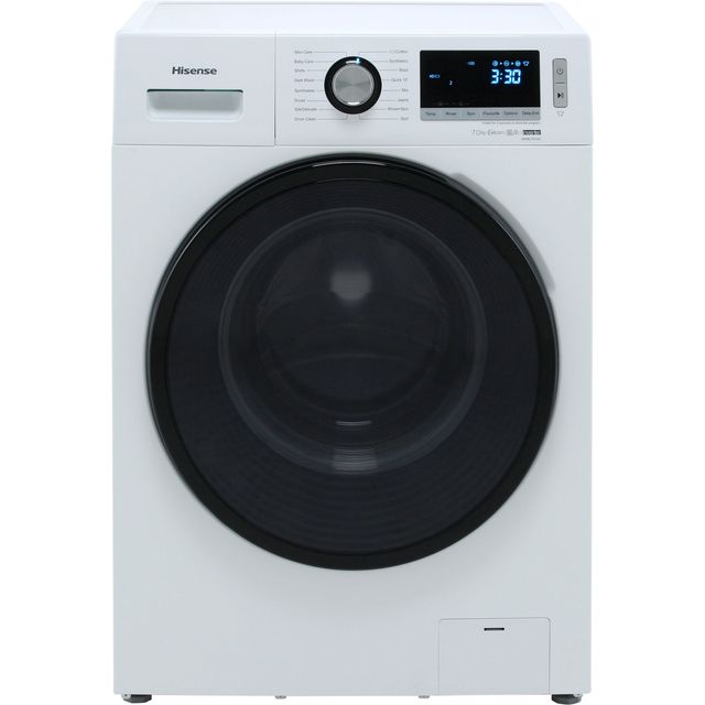 Hisense WFBL7014V 7Kg Washing Machine with 1400 rpm - White - A+++ Rated
