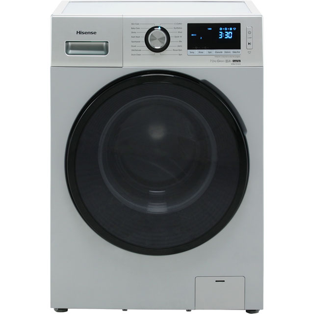 Hisense WFBL7014VS 7Kg Washing Machine with 1400 rpm - Silver - A+++ Rated - WFBL7014VS_SI - 1