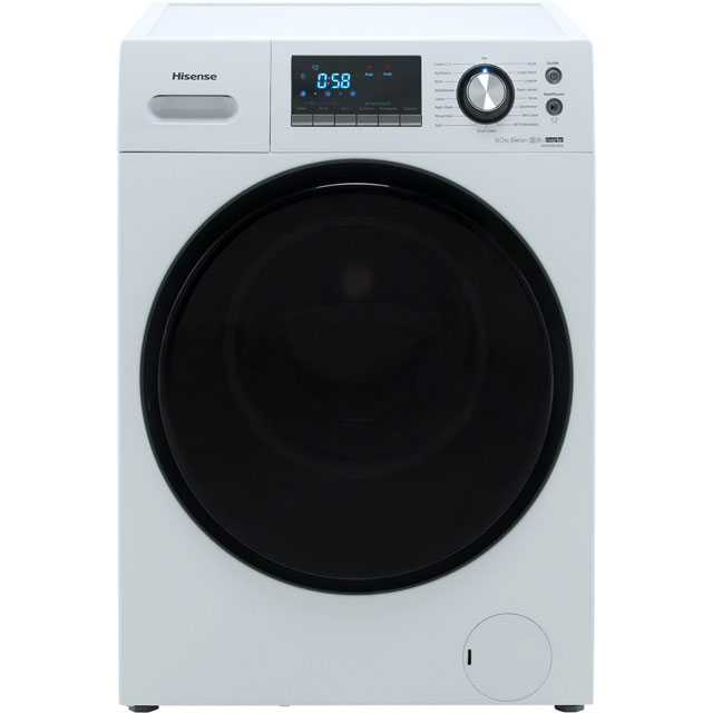 Hisense WFEH9014VA 9Kg Washing Machine with 1400 rpm - White - A+++ Rated - WFEH9014VA_WH - 1