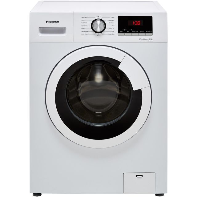 Hisense WFHV9014 9Kg Washing Machine with 1400 rpm - White - A+++ Rated - WFHV9014_WH - 1