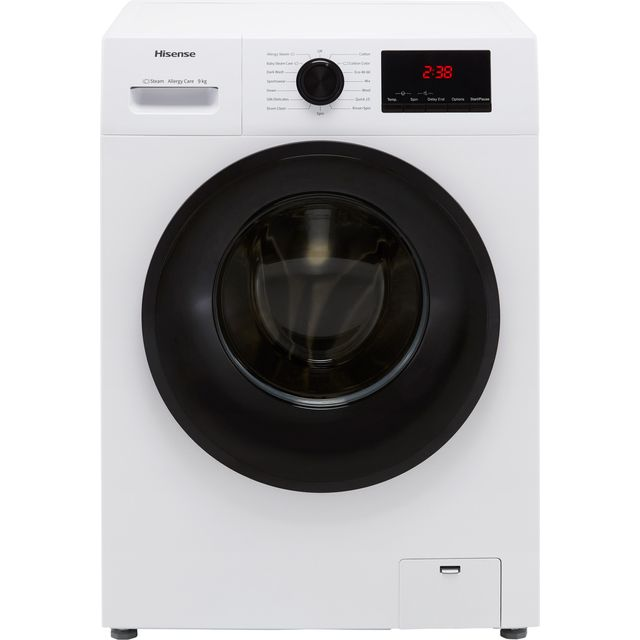Hisense WFPV9014EM 9Kg Washing Machine with 1400 rpm - White - E Rated