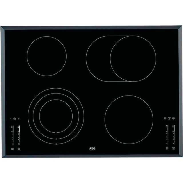 AEG HK764070FB 71cm Ceramic Hob - Black