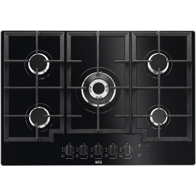 AEG HKB75NB540 74cm Gas Hob - Black