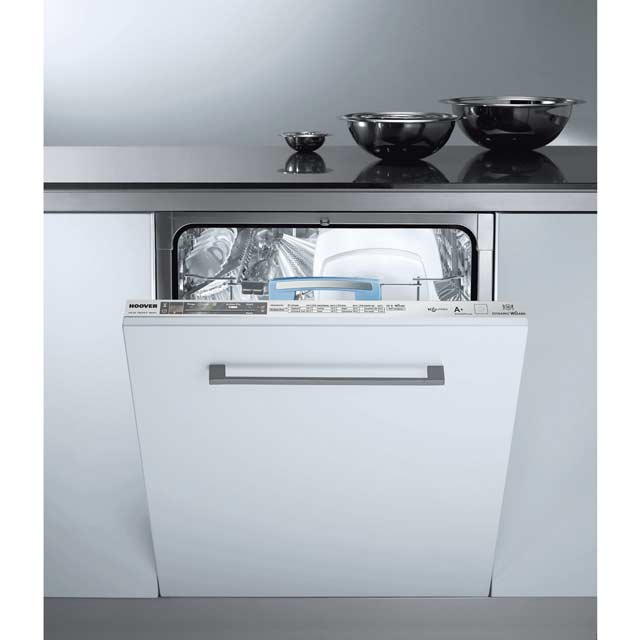 Hoover Dynamic Wizard Fully Integrated Standard Dishwasher - Stainless Steel with Fixed Door Fixing Kit - A+ Rated