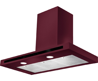 Rangemaster Hi-Lite Flat 110 cm Chimney Cooker Hood - Cranberry - C Rated