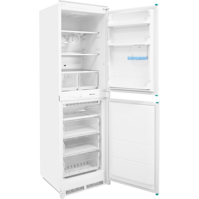 Hotpoint Aquarius HM325FF2.1 Built In Fridge Freezer - White - HM325FF2.1_WH - 1