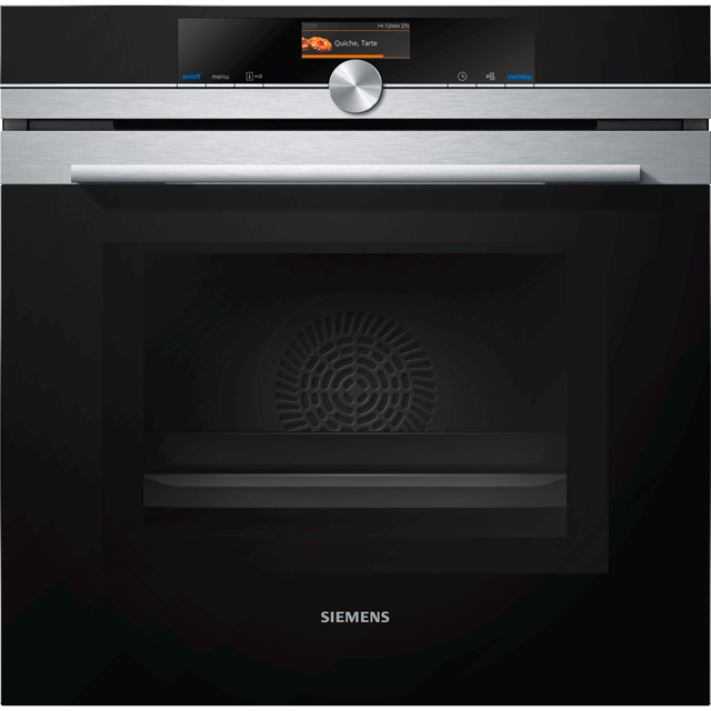 Siemens IQ-700 HM656GNS6B Wifi Connected Built In Electric Single Oven with Microwave Function - Stainless Steel - HM656GNS6B_SS - 1