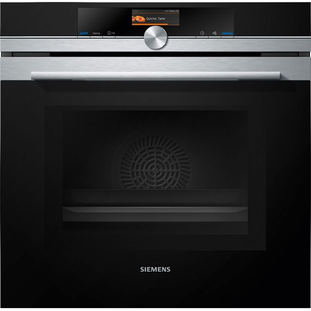 Siemens IQ-700 HM676G0S6B Built In Electric Single Oven with Microwave Function - Stainless Steel - HM676G0S6B_SS - 1