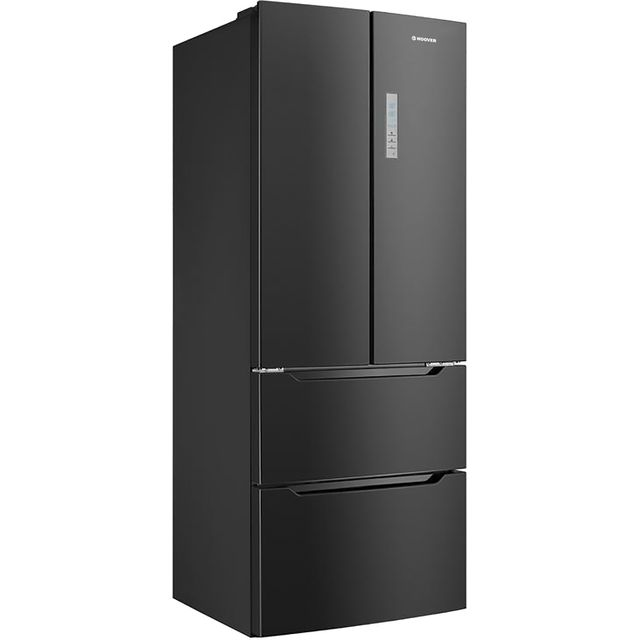 Hoover HMN7182BK/1 American Fridge Freezer - Black - A+ Rated Best Price, Cheapest Prices