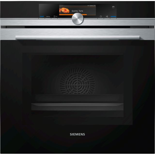 Siemens IQ-700 HN678GES6B Wifi Connected Built In Electric Single Oven with Microwave Function with added Steam Function - Stainless Steel - HN678GES6B_SS - 1