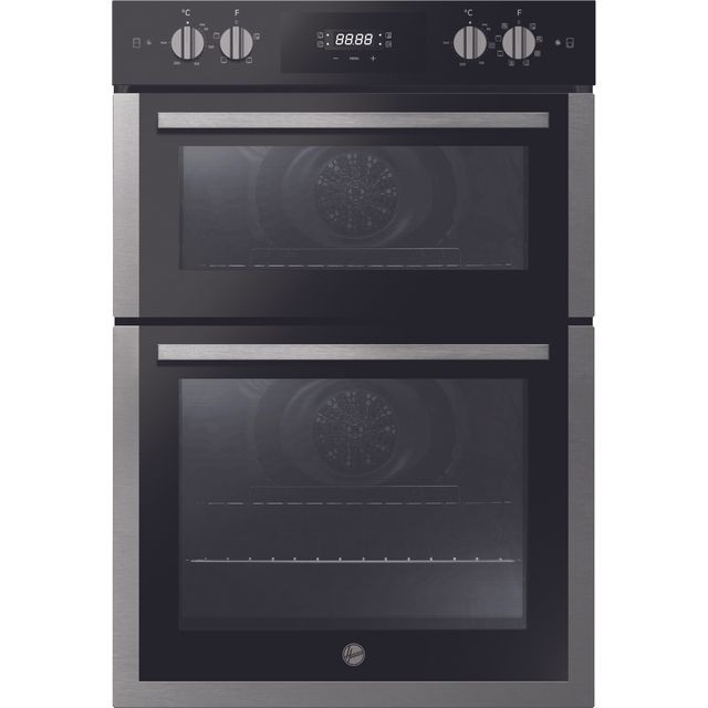 Hoover H-OVEN 300 HO9DC3UB308BI Built In Electric Double Oven - Black / Stainless Steel - HO9DC3UB308BI_BSS - 1