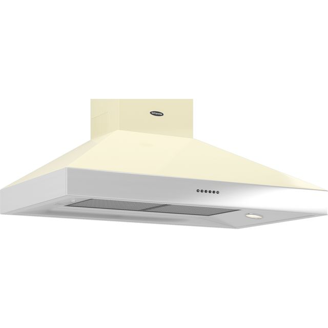 Britannia Latour HOOD-BTH100-GC 100 cm Chimney Cooker Hood - Gloss Cream - A Rated
