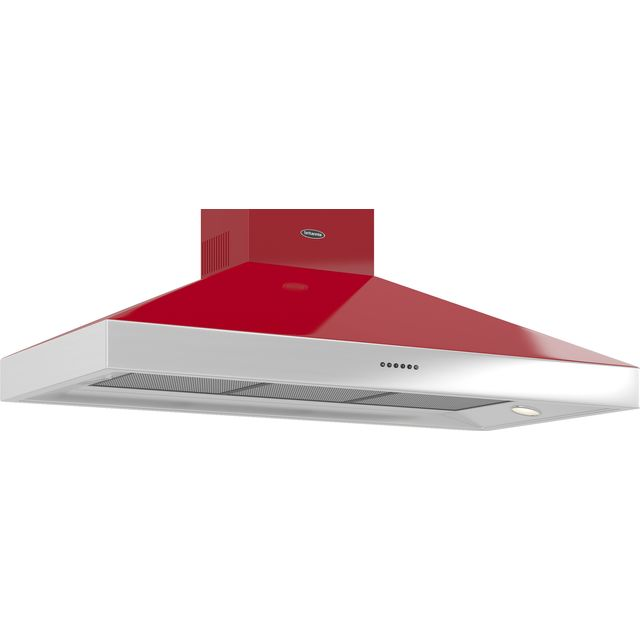 Britannia Latour HOOD-BTH120-GR Built In Chimney Cooker Hood - Red - HOOD-BTH120-GR_RD - 1