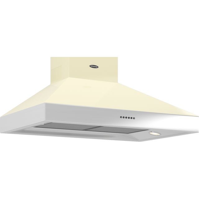 Britannia Latour 90 cm Chimney Cooker Hood - Gloss Cream - A Rated